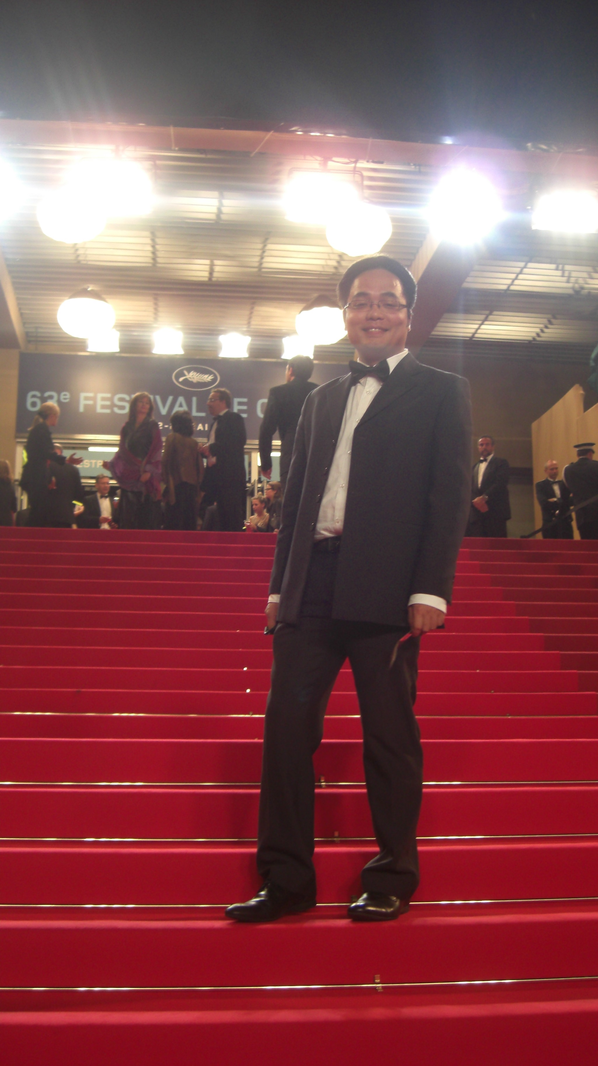 Phan Dang Di, director, on the red carpet in Cannes festival. @Arnaud Soulier